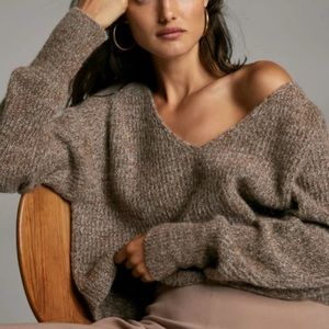 🌻🌻Free People Beige chunky knit pullover